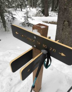 Sign for the Switchback Trail 271