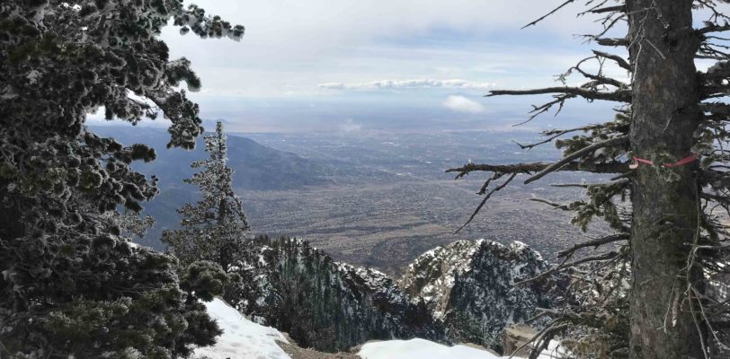 Winter Hike and view at the Sandia Crest