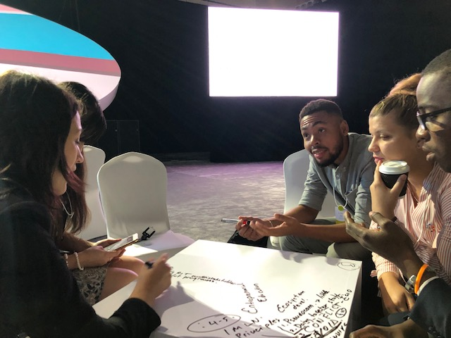Group discussion at the GEC